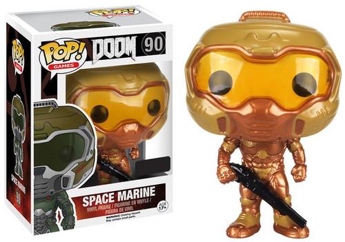Funko POP! Games Doom Marine Exclusive Vinyl Figure #90 [Gold]