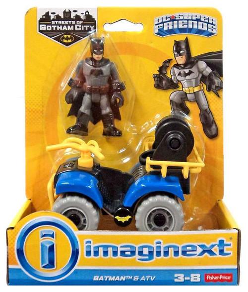 Fisher Price DC Super Friends Imaginext Gotham City Batman & ATV 3-Inch Figure Set