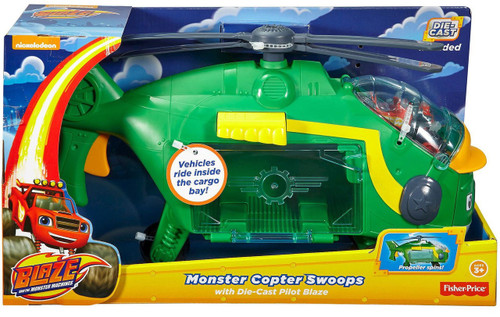 Fisher Price Blaze & the Monster Machines Monster Copter Swoops Playset [with Pilot Blaze]