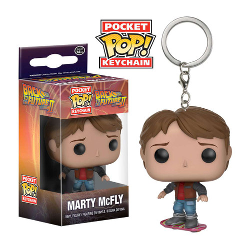 Funko Back to the Future II Pocket POP! Marty McFly Keychain [Marty on Hoverboard]