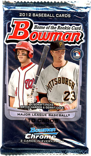 MLB Topps 2012 Bowman Baseball Trading Card Pack [10 Cards]