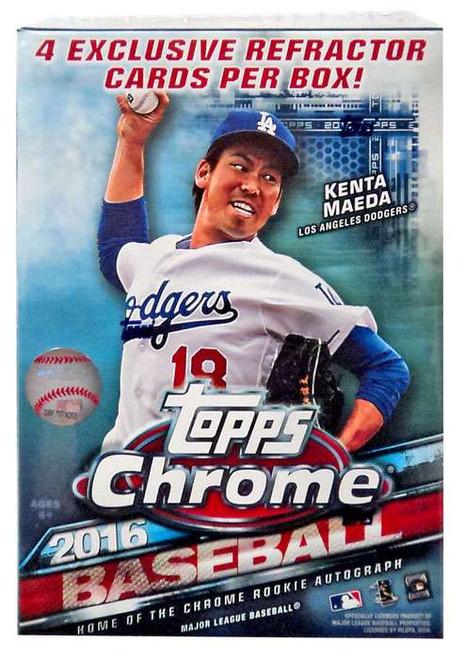 MLB Topps 2016 Chrome Baseball Trading Card BLASTER Box [7 Packs + 1 Bonus Pack]