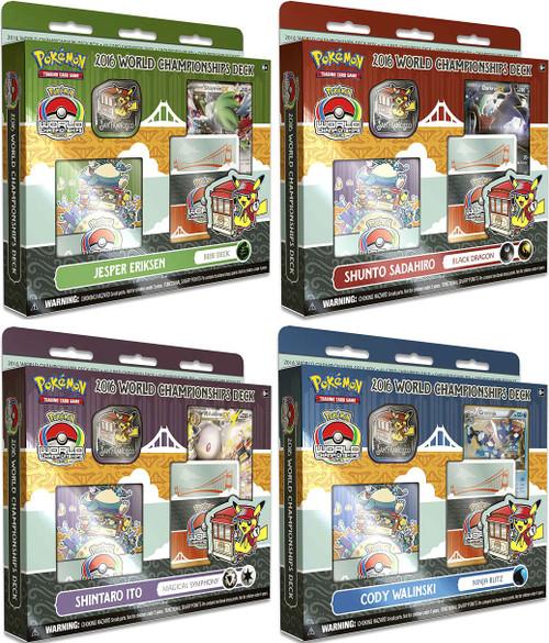 Pokemon Trading Card Game 2016 World Championships Set of 4 Starter Decks