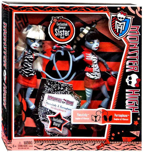 Monster High Meowlody & Purrsephone Exclusive 10.5-Inch Doll 2-Pack [Damaged Package]