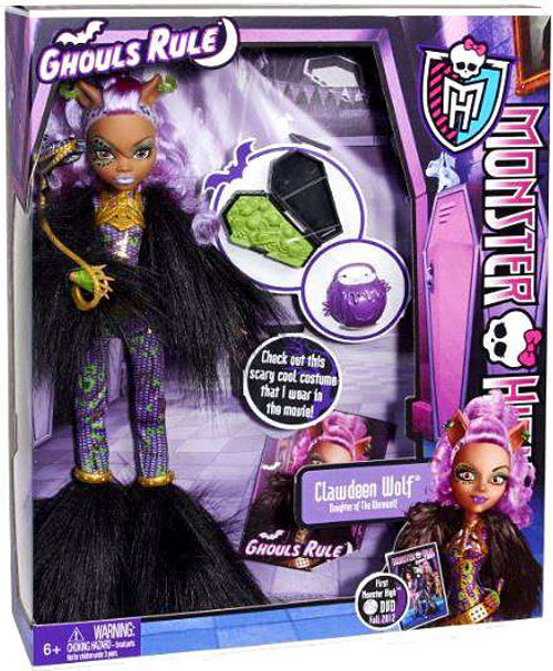 Monster High Ghouls Rule Clawdeen Wolf 10.5-Inch Doll [Damaged Package]
