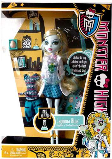Monster High Classroom Mad Science Lagoona Blue 10.5-Inch Doll [No Locker, Damaged Package]