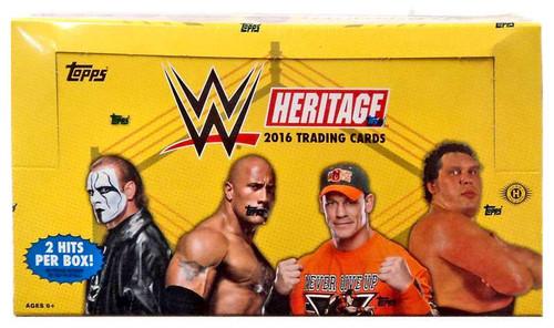 WWE Wrestling Topps 2016 WWE Heritage Trading Card HOBBY Box [24 Packs]