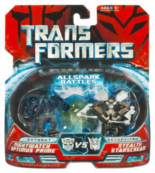 Transformers Movie Night Watch Optimus Prime Vs. Stealth Star Scream Legend Action Figure 2-Pack