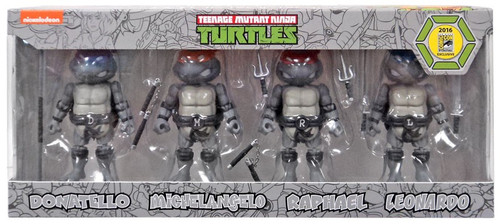 Teenage Mutant Ninja Turtles Herocross Hybrid Metal Figuration TMNT Exclusive Action Figure 4-Pack [Black & White]