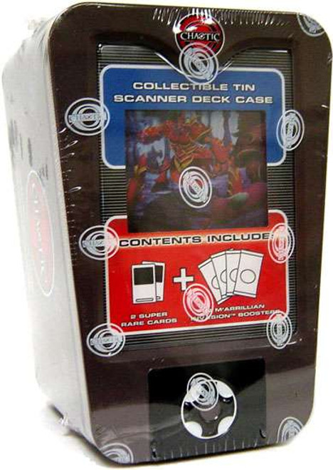 Chaotic Trading Card Game Wave 1 Scanner Tin Deck Box [Grey]