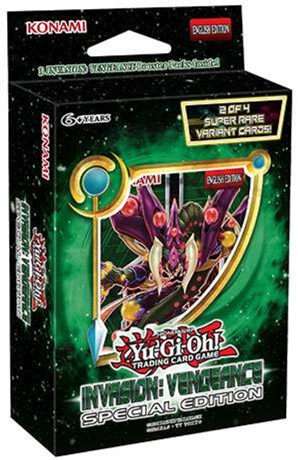 YuGiOh Trading Card Game Invasion: Vengeance Special Edition [3 Booster Packs & 1 RANDOM Promo Card]
