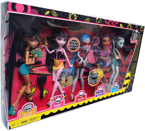 Monster High Gloom Beach 10.5-Inch Doll 5-Pack [Damaged Package]