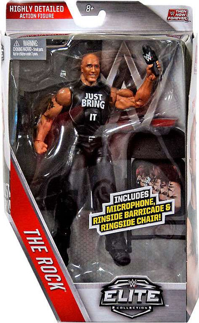 WWE Wrestling Elite Collection Then Now Forever The Rock Exclusive Action Figure [Ringside Barricade & Chair]