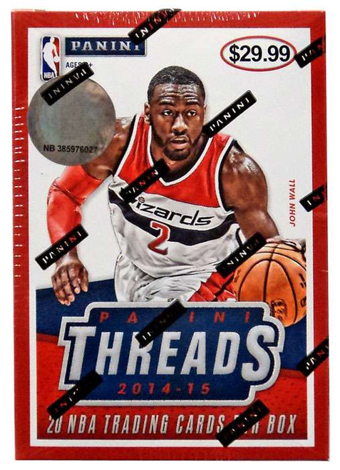 NBA Panini 2014-15 Threads Basketball Trading Card BLASTER Box