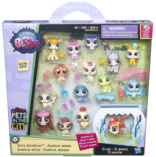 Littlest Pet Shop Pets in the City Active Adventures Figure Set