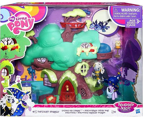My Little Pony Friendship is Magic Collection Twilight Sparkle Golden Oak Library Playset