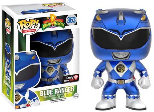 Funko Power Rangers POP! TV Blue Ranger Exclusive Vinyl Figure #363 [Metallic]