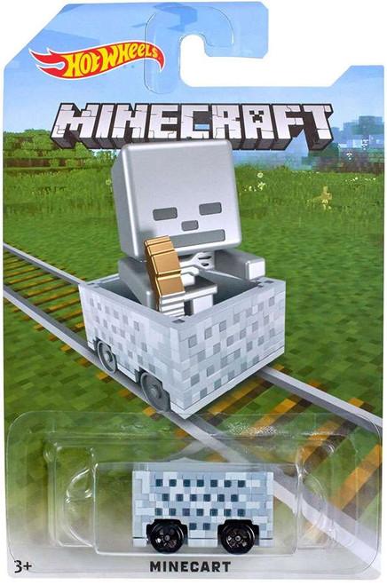 Hot Wheels Minecraft Minecart Diecast Car [Skeleton]