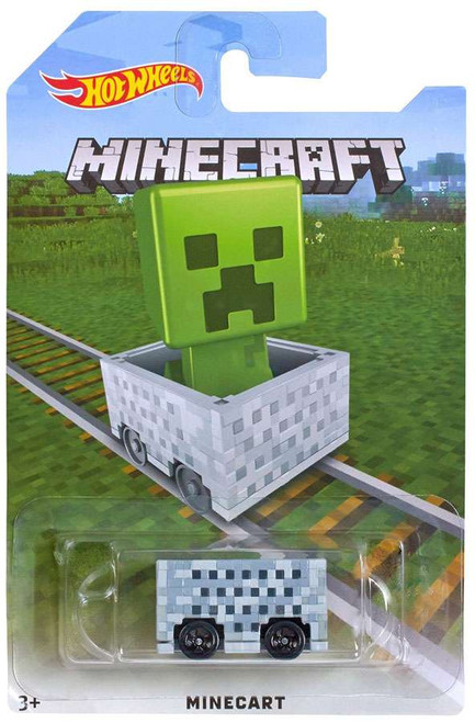 Hot Wheels Minecraft Minecart Diecast Car [Creeper]