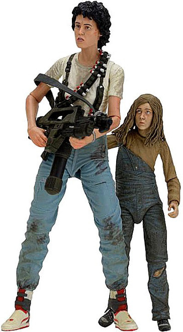 NECA Aliens 30th Anniversary Rescuing Newt Deluxe Action Figure 2-Pack [Ripley & Newt]