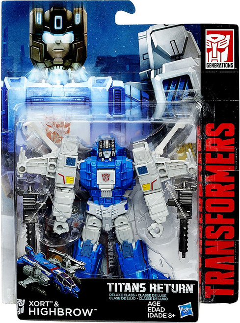 Transformers Generations Titans Return Xort & Highbrow Deluxe Action Figure