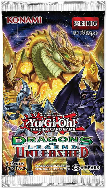 YuGiOh Trading Card Game Dragons of Legend Unleashed Booster Pack [5 Cards]