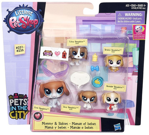 Littlest Pet Shop Mommy & Babies Beagles Mini Pet 5-Pack