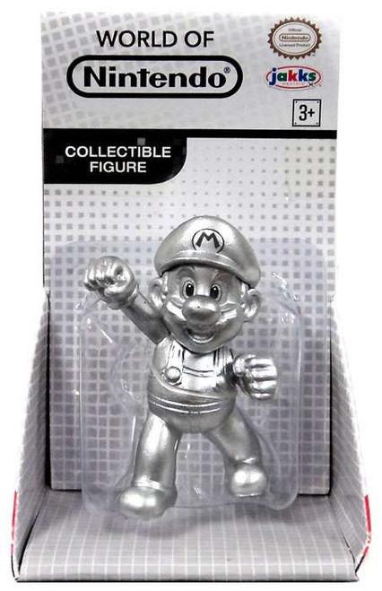 World of Nintendo Super Mario Metal Mario 2.5-Inch Mini Figure