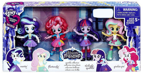 My Little Pony Equestria Girls Minis Elements of Friendship Sparkle Collection Exclusive Figure 4-Pack