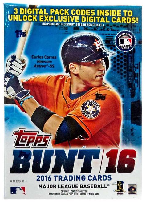 MLB Topps 2016 Bunt Baseball Trading Card BLASTER Box [7 packs + 1 Bonus Pack]