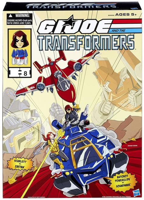 Transformers GI Joe Powerglide vs Soundwave Exclusive Action Figure Set [Scarlett vs Zartan]