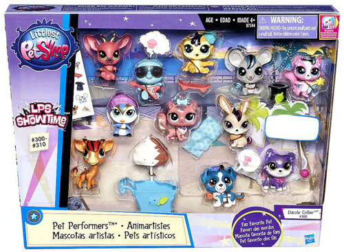 Littlest Pet Shop LPS Showtime Pet Performers Exclusive Figure 11-Pack