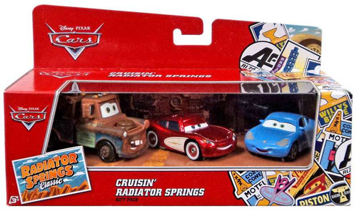 Disney / Pixar Cars Radiator Springs Classic Cruisin' Radiator Springs Diecast Car 3-Pack