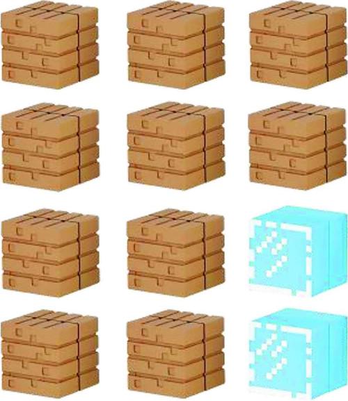 Minecraft Mine-Keshi Wood Plank & Glass Block Set