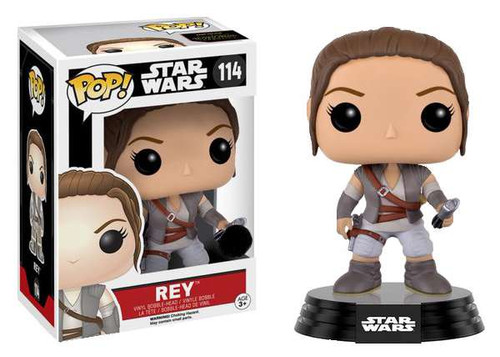 Funko The Force Awakens POP! Star Wars Rey Exclusive Vinyl Bobble Head #114 [Resistance Outfit]