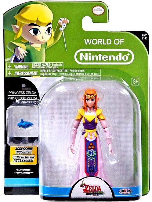World of Nintendo Princess Zelda with Ocarina Action Figure
