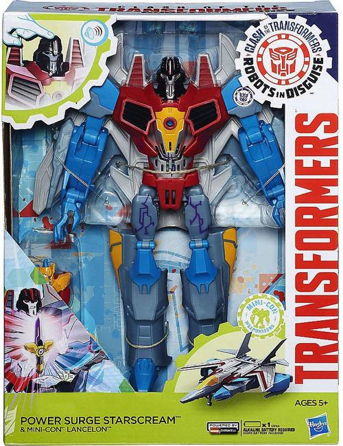 Transformers Robots in Disguise Power Surge Starscream & Mini-Con Lancelon Voyager Action Figure