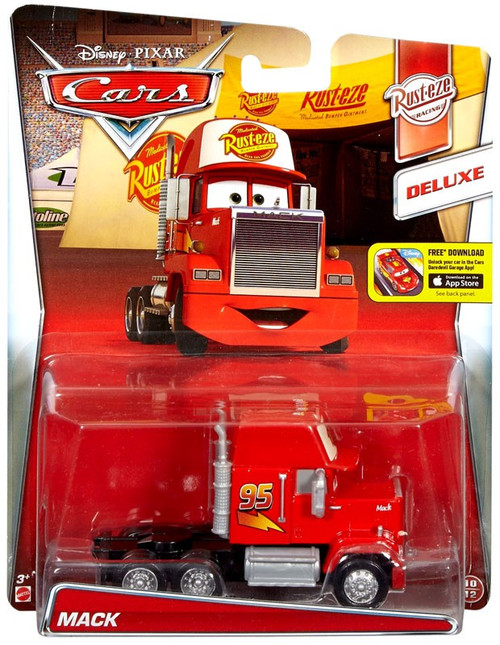 Disney / Pixar Cars Cars Deluxe Oversized Mack Diecast Car #10/12 [Rust-Eze Racing]