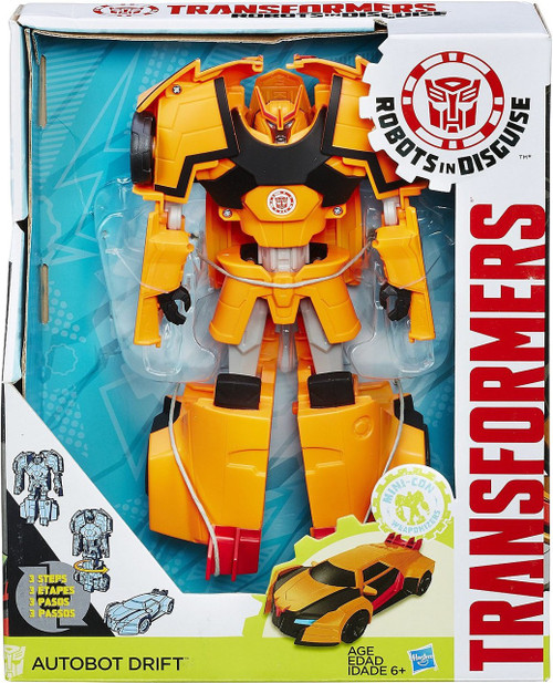 "Transformers Robots in Disguise Hyper Change Heroes Autobot Drift 10"" Action Figure [3-Step Changer]"