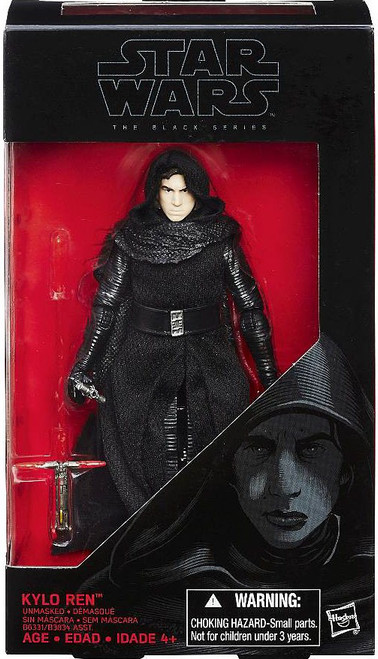 Star Wars The Force Awakens Black Series Kylo Ren Unmasked Action Figure