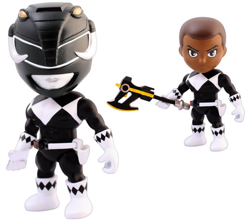 Power Rangers Mighty Morphin Series 1 Black Ranger 3.4-Inch Mini Figure [Loose]