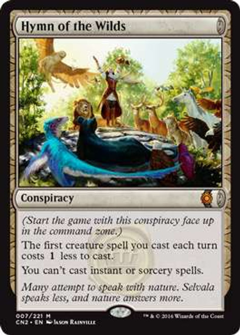 MtG Conspiracy: Take the Crown Mythic Rare Hymn of the Wilds #7