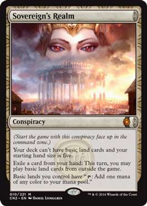 MtG Conspiracy: Take the Crown Mythic Rare Sovereign's Realm #10