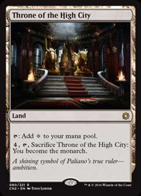 MtG Conspiracy: Take the Crown Rare Throne of the High City #80