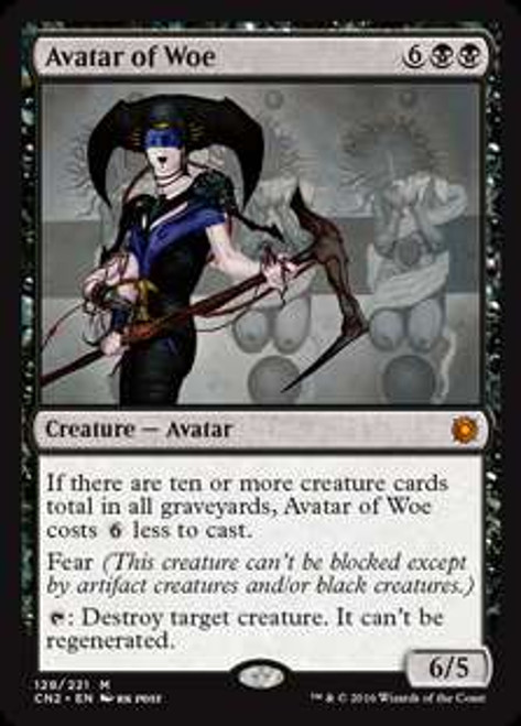 MtG Conspiracy: Take the Crown Mythic Rare Avatar of Woe #128