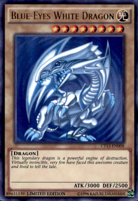 YuGiOh 2016 Mega-Tin Mega Pack Ultra Rare Blue-Eyes White Dragon CT13-EN008 [Kaiba Tin]