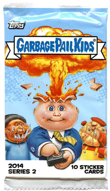 Garbage Pail Kids Topps 2014 Series 2 Trading Card Pack [10 Sticker Cards!]