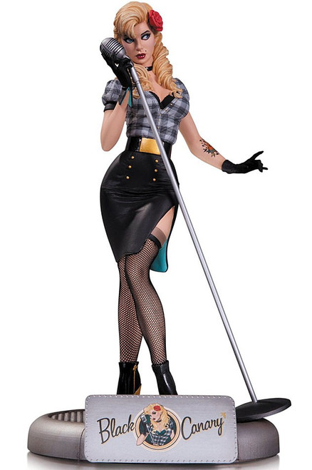 DC Bombshells Black Canary Statue [Opened & Inspected]
