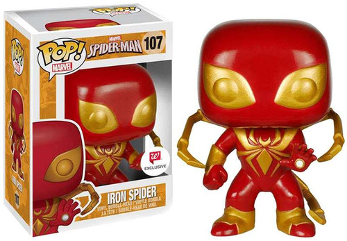 Funko Spider-Man POP! Marvel Iron Spider Exclusive Vinyl Bobble Head #107
