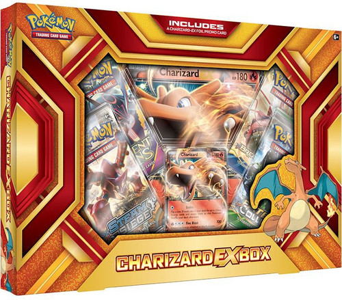 Pokemon Trading Card Game XY Charizard EX (Fire Blast) Box [4 Booster Packs, Promo Card & Oversize Card]